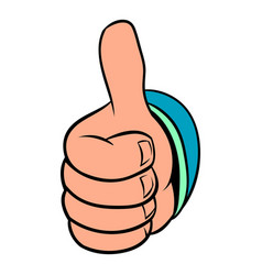 Thumb up gesture icon cartoon vector