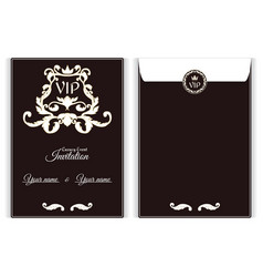 elegant vertical vip envelope it is executed in vector image