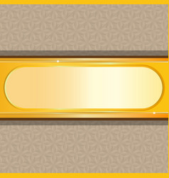 Gold background with floral vector