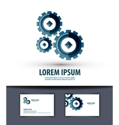 Business logo design template gear or work icon vector