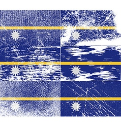 Flag of nauru with old texture vector