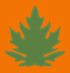 Green papaya leaf on orange background vector