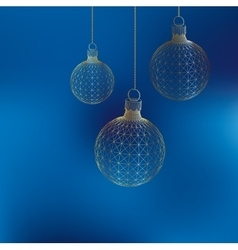 Christmas decoration ball polygon triangle the vector