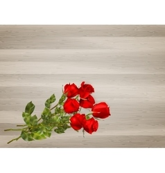 Roses on a wooden background eps 10 vector