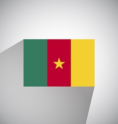 Flat Flag of Cameroon vector image