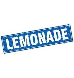 lemonade blue square grunge stamp on white vector image