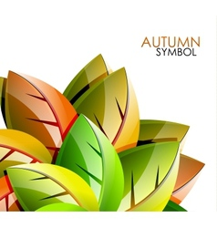 Autumn leaves concept background vector image vector image