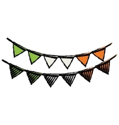 Cartoon festive bunting st patrick day vector