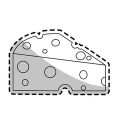 cheese slice icon image vector image