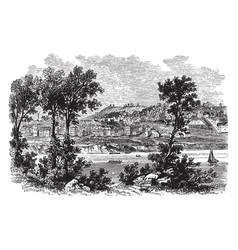 Cincinnati in 1812 vintage vector