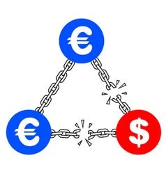 Crisis dollar vector