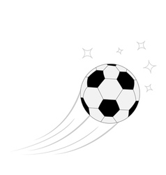 Flying football soccer ball motion trails white vector image vector image