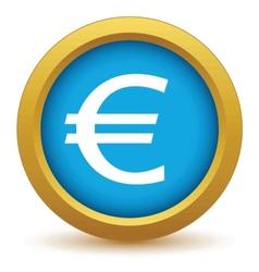 Gold euro icon vector image