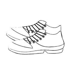 Golf shoe accessory icon vector
