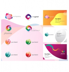 Logo and identity set vector