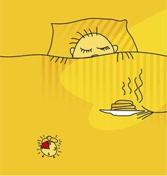 Morning awake vector