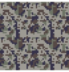 Pixel camo seamless pattern blue camouflage vector