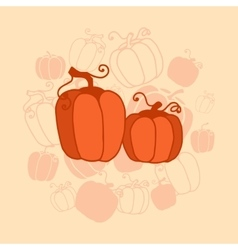 Pumkin thanksgiving card vector