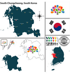 south chungcheong province south korea vector image vector image