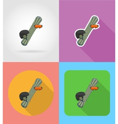 sport flat icons 15 vector image