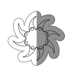 Sticker of monochrome abstract star of teamgroup vector