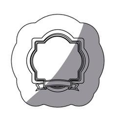sticker silhouette border heraldic decorative vector image vector image