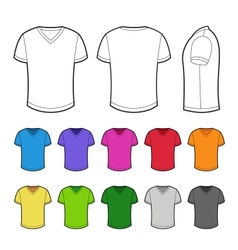 T-shirt in various colors vector image vector image