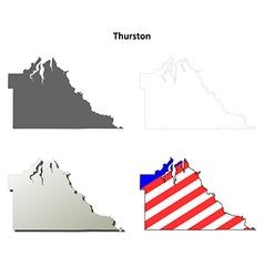 Thurston map icon set vector