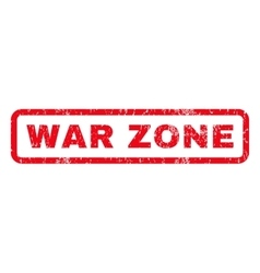War Zone Rubber Stamp vector image vector image