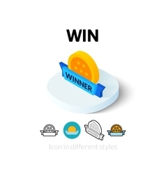 Win icon in different style vector image vector image