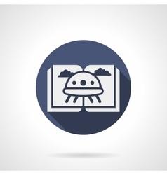 Childrens sci-fi literature blue round icon vector