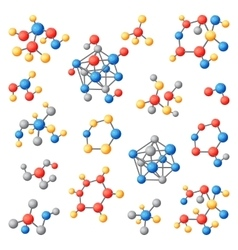 Molecular structure chemical atoms set vector