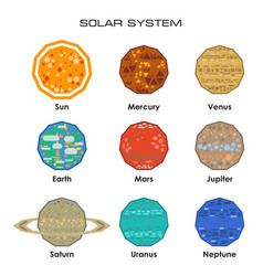 Solar system with planets vector