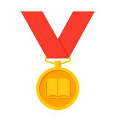school medal icon vector image