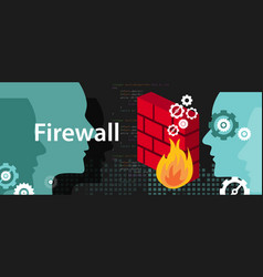 Firewall computer security protection from safety vector