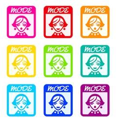 Fashion magazine icon vector image