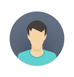 Icon of user avatar for web site or mobile app vector
