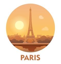 Travel destination paris icon vector