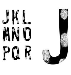 Fingerprint Alphabet Full J to R Set 2 of 3 vector image