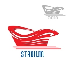 Sport game stadium or arena building vector