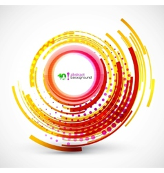 Abstract technology circle background vector