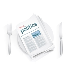 News politics tablewares vector