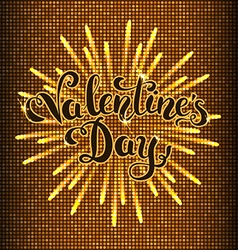 Happy valentines day flare background vector