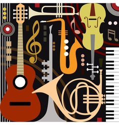Abstract musical instruments vector image