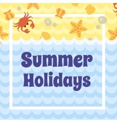 Summer holidays card vector