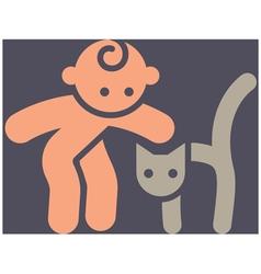 Kids activities icon vector