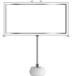 advertise billboard vector vector image