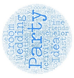 Bachelor party ideas text background wordcloud vector