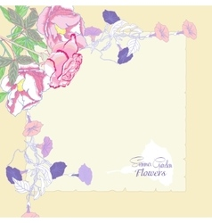 Background with bindweed and flowers-01 vector image