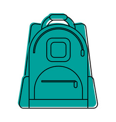 Backpack school supply icon image vector